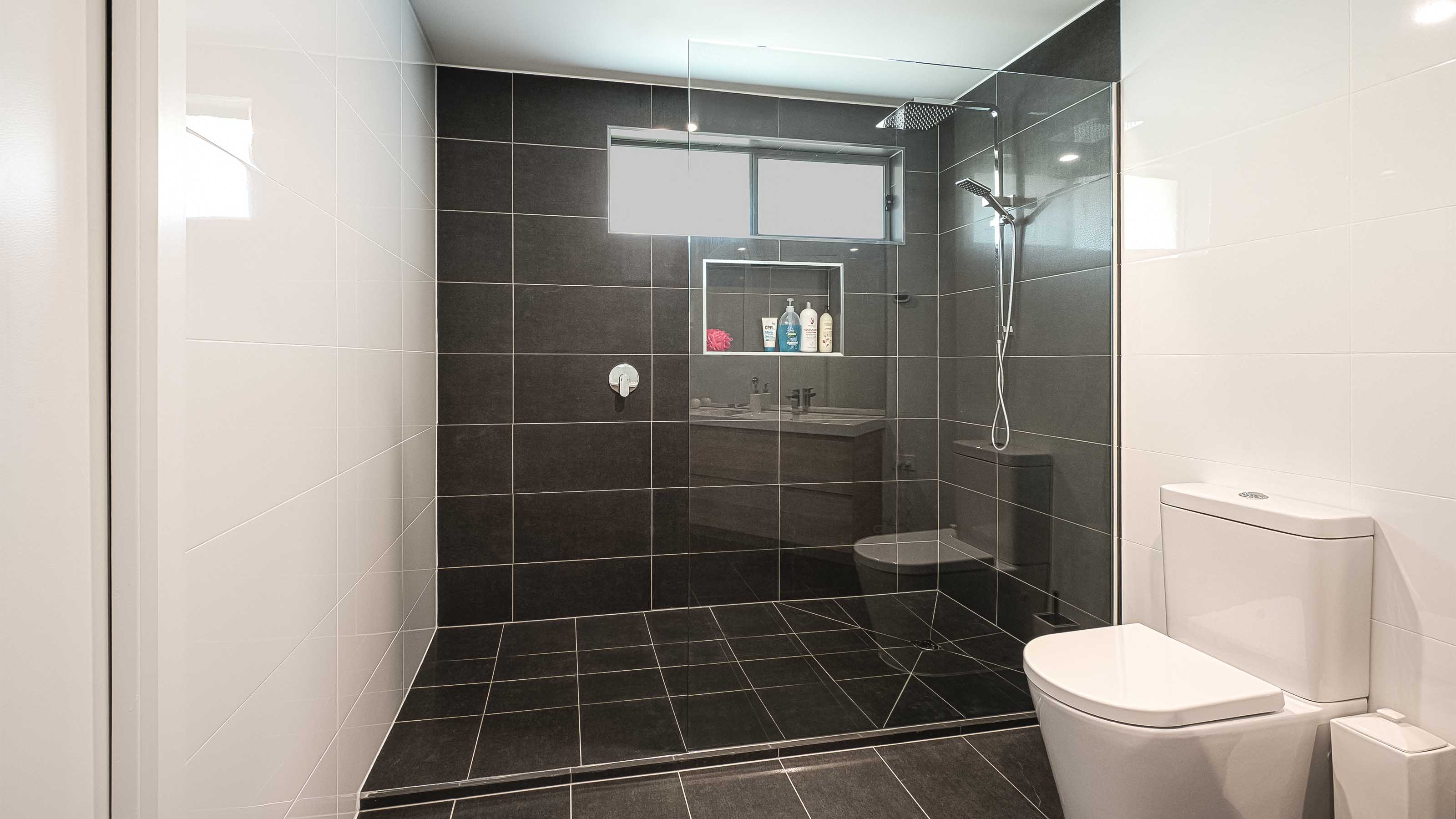 freFLO™; - Frameless Glass Shower Screen Panel - Ensuite - Bathroom Walk In Shower Recess - Manifold Heights - Supplied & Installed by - geelongsplashbacks.com.au