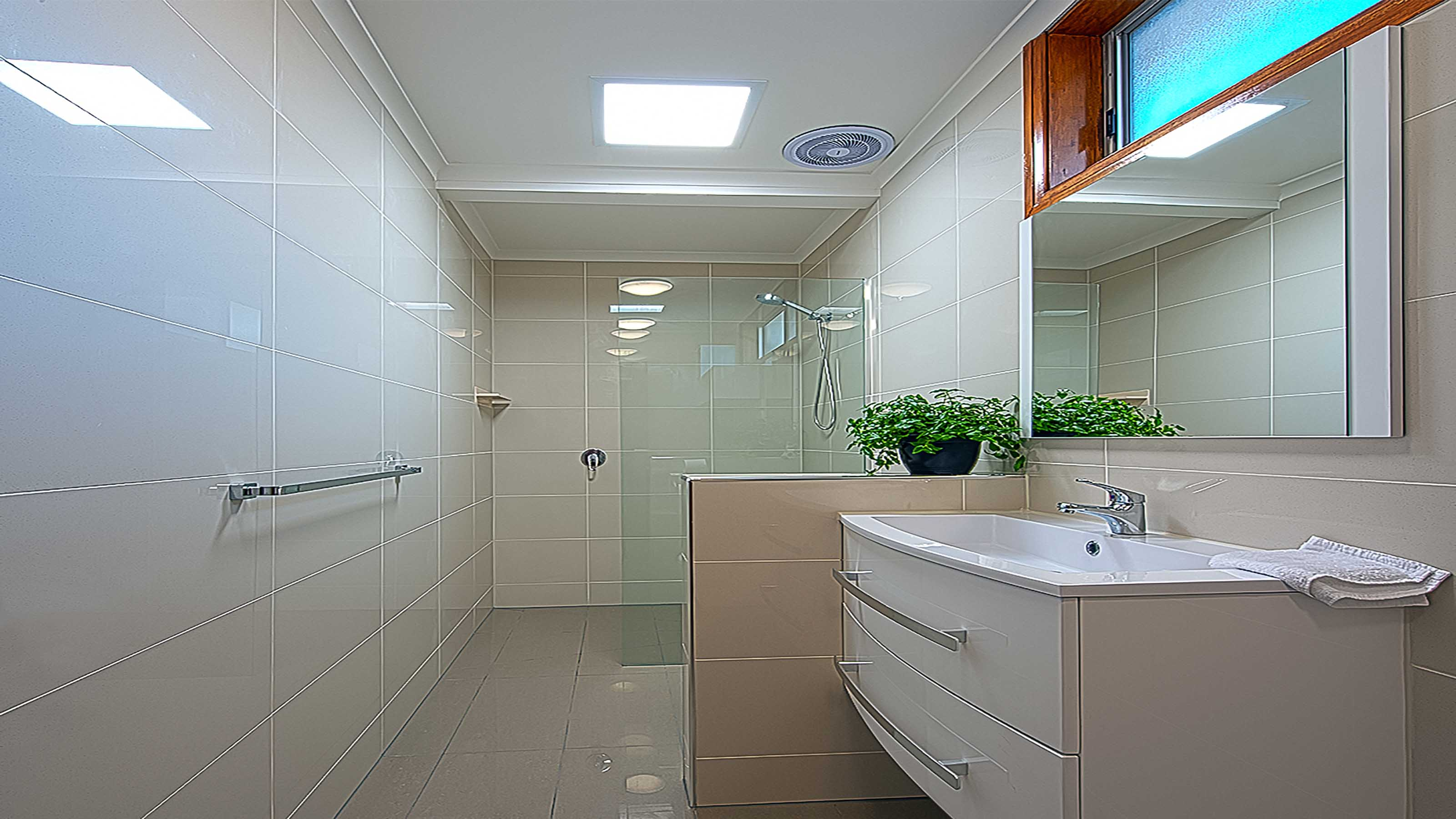 freFLO™ - Frameless Glass Shower Screen Panel - Walk In Shower - In Situ Tile Floor Shower Base - Bathroom Ensuite - Belmont - Supplied & Installed by - geelongsplashbacks.com.au